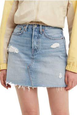 Levi's® High-Rise Deconstructed Skirt